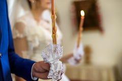kyrkligt bröllop Arkivbilder