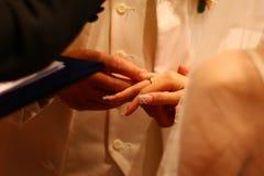 Kyrkligt bröllop Arkivfoton