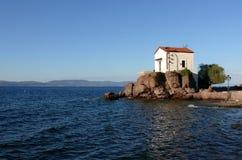 kyrkligt bröllop för greece lesvossjösida Arkivfoto