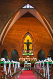 kyrkligt bröllop för ceremoni Royaltyfria Foton
