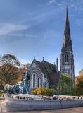 kyrkligt copenhagen engelska royaltyfri foto
