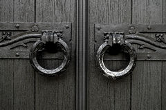 Kyrkligt dörrhandtag Royaltyfri Foto