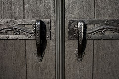 Kyrkligt dörrhandtag Arkivfoton