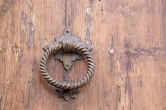 Kyrkligt dörrhandtag, Pollenca, Majorca Royaltyfria Bilder