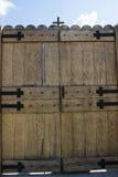 Kyrkligt dörrkors Arkivbilder