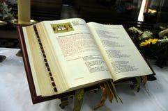 kyrkligt evangelium Arkivbild