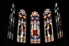Kyrkligt fönster royaltyfria foton
