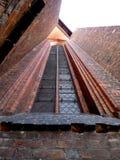 Kyrkligt fönster Arkivfoto