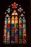 kyrkligt fönster Arkivbild