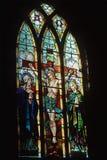 Kyrkligt fönster för målat glass Royaltyfri Foto