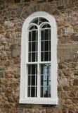 Kyrkligt fönster för vit Royaltyfri Foto