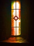 Kyrkligt fönster, monteringsMelleray abbotskloster, Waterford, Irland Arkivbilder