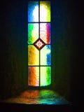 Kyrkligt fönster, monteringsMelleray abbotskloster, Waterford, Irland Arkivbild
