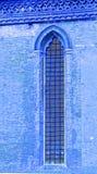 Kyrkligt fönster, Venedig, Italien Arkivfoto