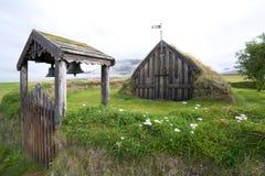 kyrkligt f gr iceland Royaltyfria Bilder