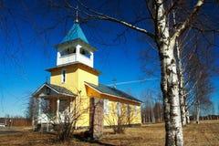 kyrkligt finlandssvenskt trä arkivfoto