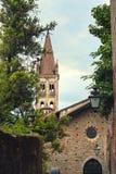 kyrkligt gammalt för tegelsten Arkivbild
