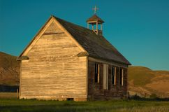 kyrkligt gammalt lantligt Arkivfoto