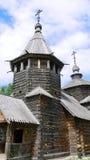 kyrkligt gammalt suzdal trä Arkivfoto