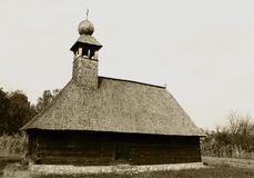 kyrkligt gammalt trä Arkivbild