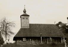 kyrkligt gammalt trä Royaltyfria Bilder