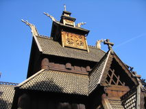 kyrkligt gammalt trä Fotografering för Bildbyråer