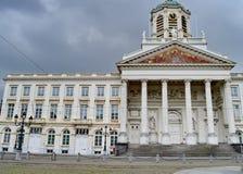 Kyrkligt helgon Jacques-sur-Coudenberg på plats Royale eller kunglig personfyrkant i Bryssel, Belgien Royaltyfri Bild