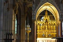 kyrkligt huvudvotive för altare Arkivfoto