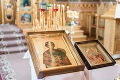 kyrkligt inre ortodoxt Royaltyfri Fotografi