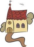 kyrkligt land royaltyfri illustrationer