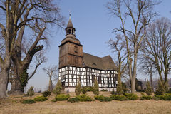 kyrkligt land lägre poland silesia Arkivbilder