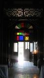 Kyrkligt ljus arkivfoto