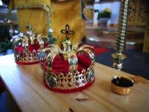 kyrkligt ortodoxt för kristen guld- religiösa redskap för kyrkliga detaljer fotografering för bildbyråer