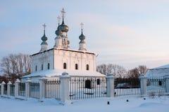 kyrkligt petropalovskay suzdal Arkivbild