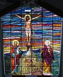 kyrkligt roldanillofönster Arkivfoton