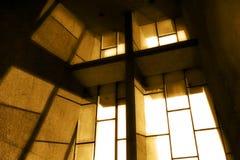 kyrkligt sepiafönster Royaltyfri Fotografi
