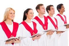 Kyrkligt sjunga för kör Arkivfoto