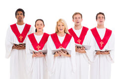 Kyrkligt sjunga för kör Arkivfoton