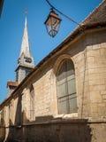 Kyrkligt St Etienne marin- museum i Honfleur arkivbilder