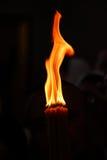 Kyrkligt stearinljusljus Fotografering för Bildbyråer