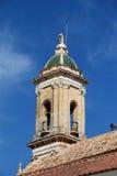 Kyrkligt torn, aguilar de-la Frontera royaltyfria bilder