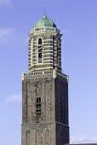 Kyrkligt torn av Zwolle Arkivfoton