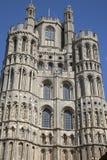 Kyrkligt torn för domkyrka, Ely; Cambridgeshire Arkivfoto