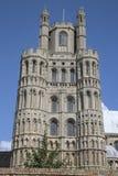 Kyrkligt torn för domkyrka, Ely; Cambridgeshire; England Royaltyfria Bilder