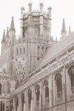 Kyrkligt torn för domkyrka, Ely; Cambridgeshire; England; UK Arkivfoto