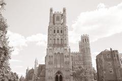 Kyrkligt torn för domkyrka, Ely; Cambridgeshire; England; UK Arkivfoton