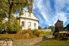 kyrkligt torn för klocka Royaltyfria Foton