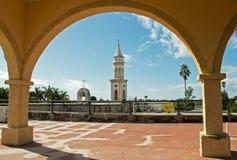 Kyrkligt torn i EL Fuerte Royaltyfria Foton