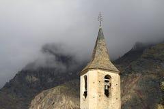 Kyrkligt torn i Espot Arkivfoton