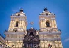 Kyrkligt torn i Lima Peru Royaltyfri Foto